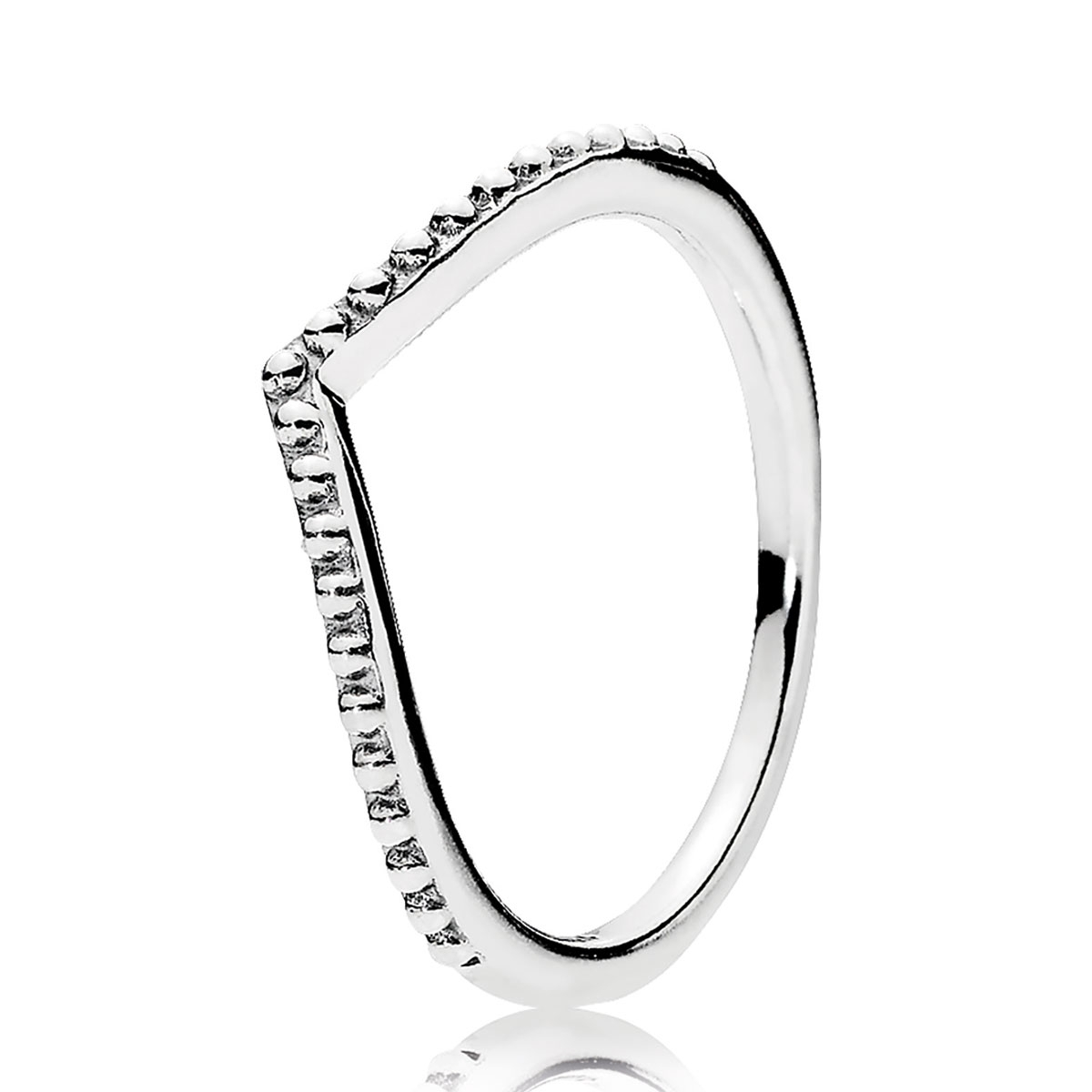 Pandora Beaded Wish Ring. This Sterling Silver Chevron Ring Is Intended For Recent Chevron Mothers Rings (Gallery 6 of 15)