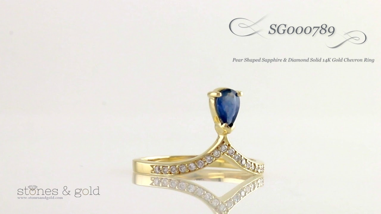 Featured Photo of Chevron Sapphire Rings