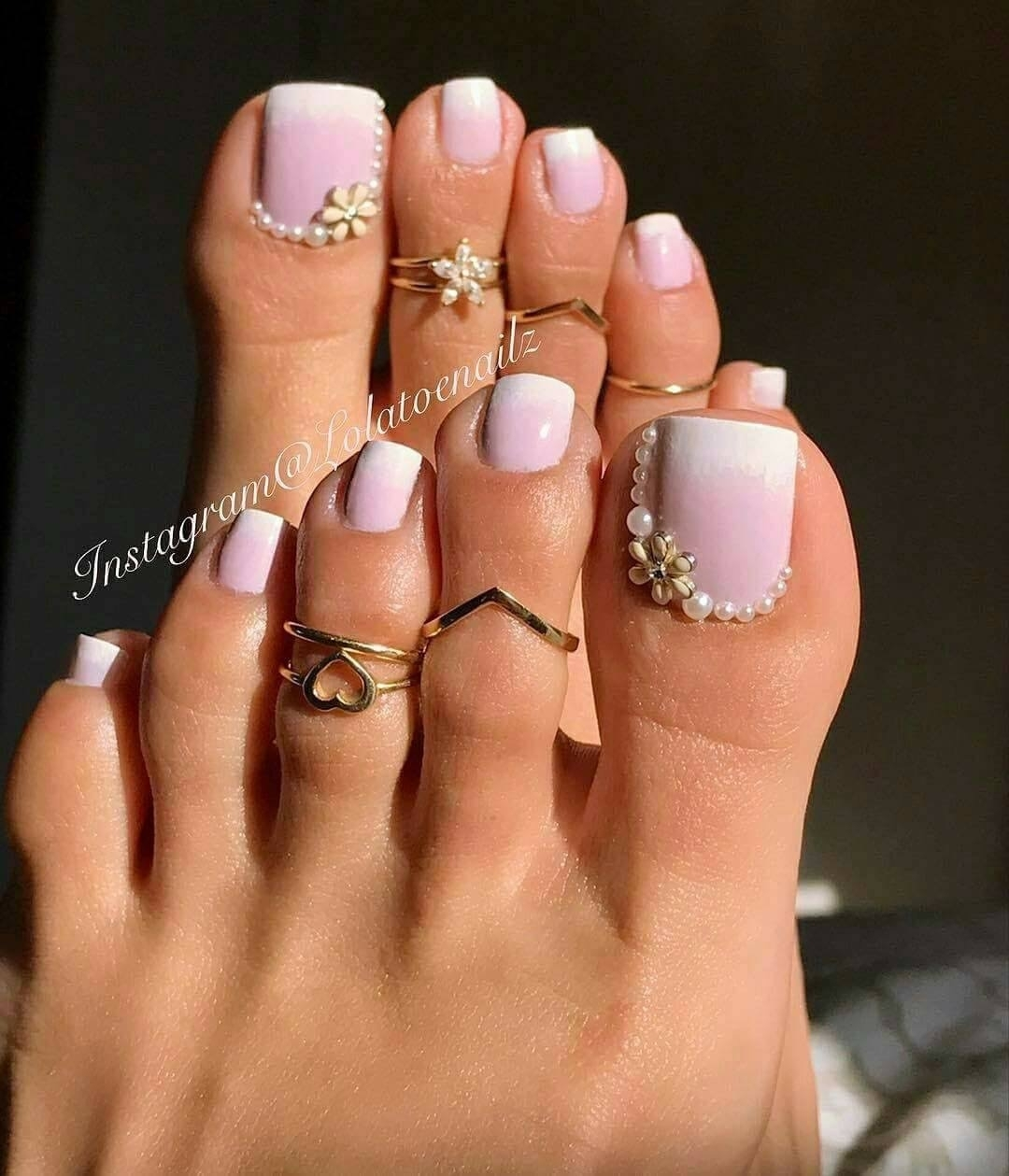 Pedicured Feet N Nail's | Black Girl News Between Here And Inside Best And Newest Pretty Toe Rings (View 5 of 15)