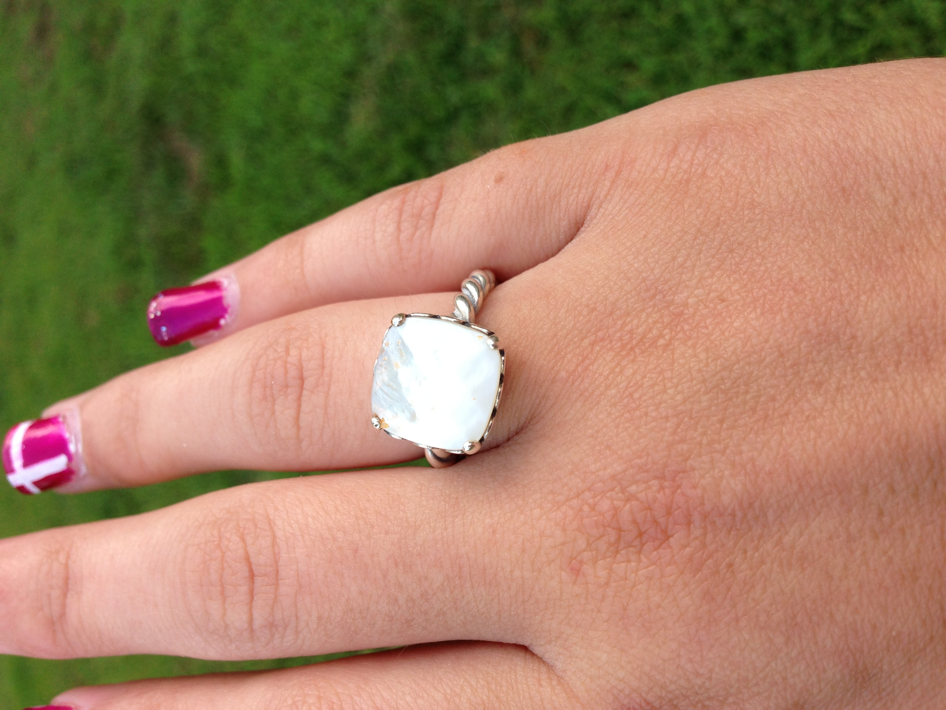 Pretty Mother Of Pearl Pandora Ring | Style | Pinterest | Pandora In Current Chevron Mothers Rings (View 8 of 15)