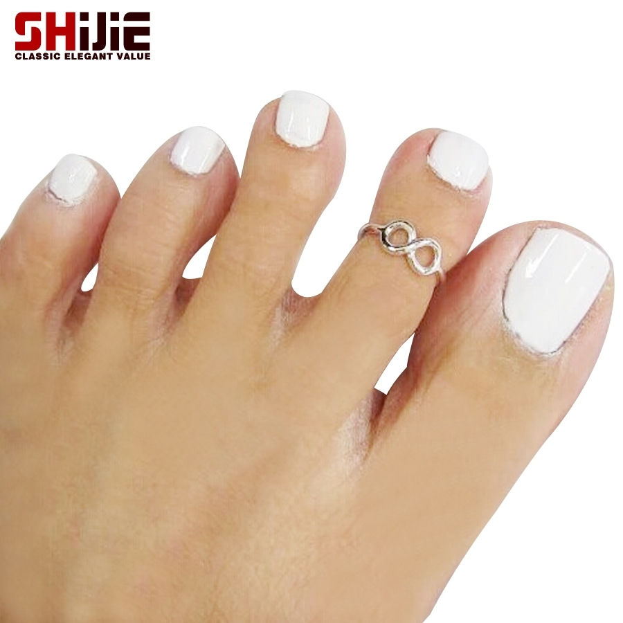 Shijie Love Lucky Number 8 Toe Rings For Women Sexy Beach Gold Throughout Current Cute Toe Rings (View 13 of 15)