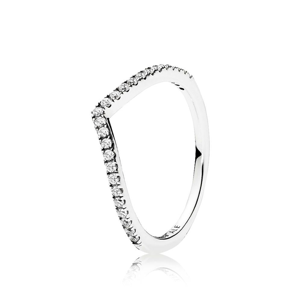 Shimmering Stones Adorn The V Shape Of This Sterling Silver In Latest Chevron Mothers Rings (Gallery 11 of 15)