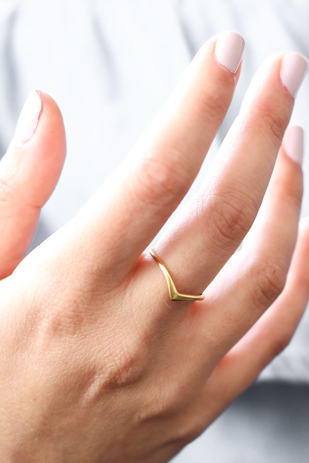 Shlomit Ofir | Solid Gold Chevron Ring – Shlomit Ofir In Most Current Chevron Rings (Gallery 4 of 15)