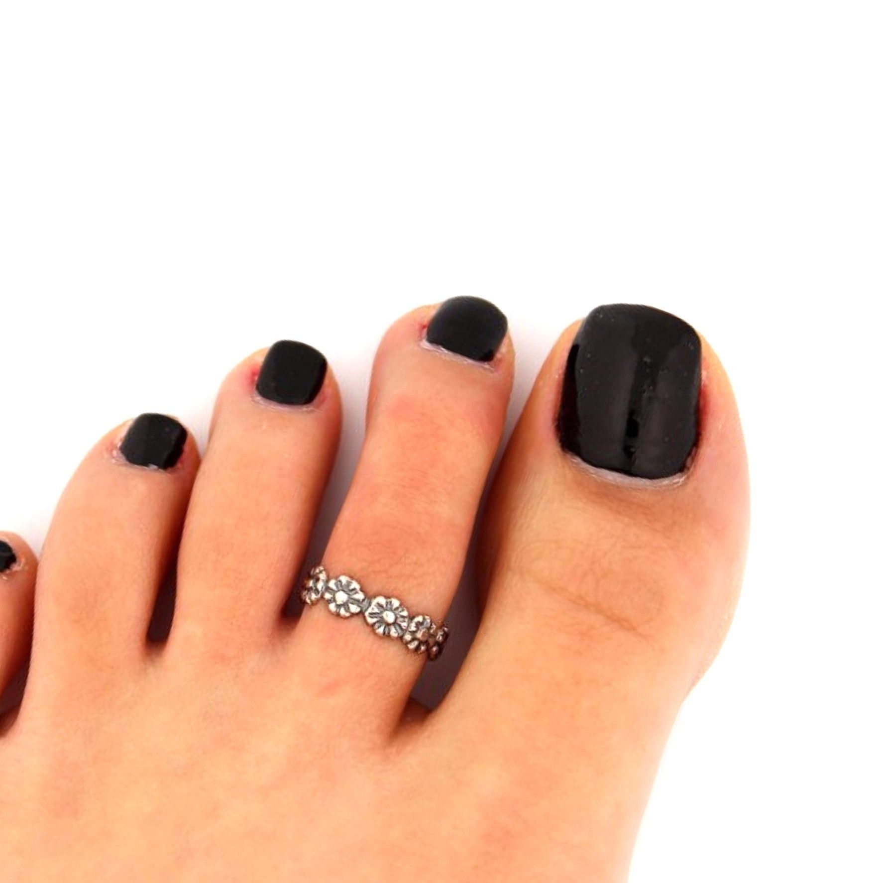 Shopping For Toe Rings That Are Simple Yet Chic? This Silver Toe Intended For Newest Non Adjustable Toe Rings (View 8 of 15)