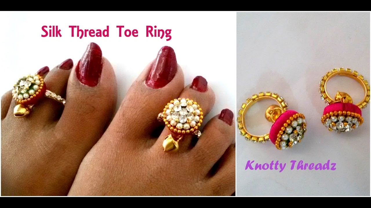 Silk Thread Jewelry | Making Simple Toe Rings Using Donuts And With Regard To Most Up To Date Jewellery Toe Rings (Gallery 9 of 15)