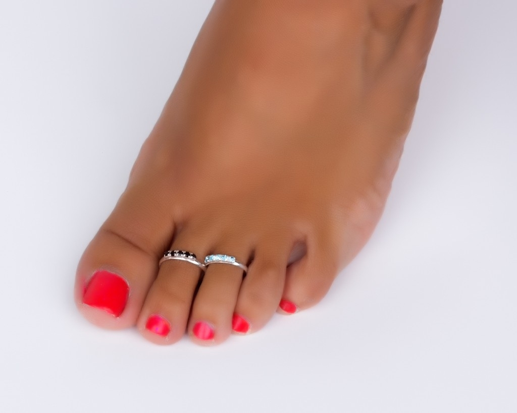 Silver Band Toe Ring Adjustable Midi Rings For Recent Double Toe Rings (View 6 of 15)