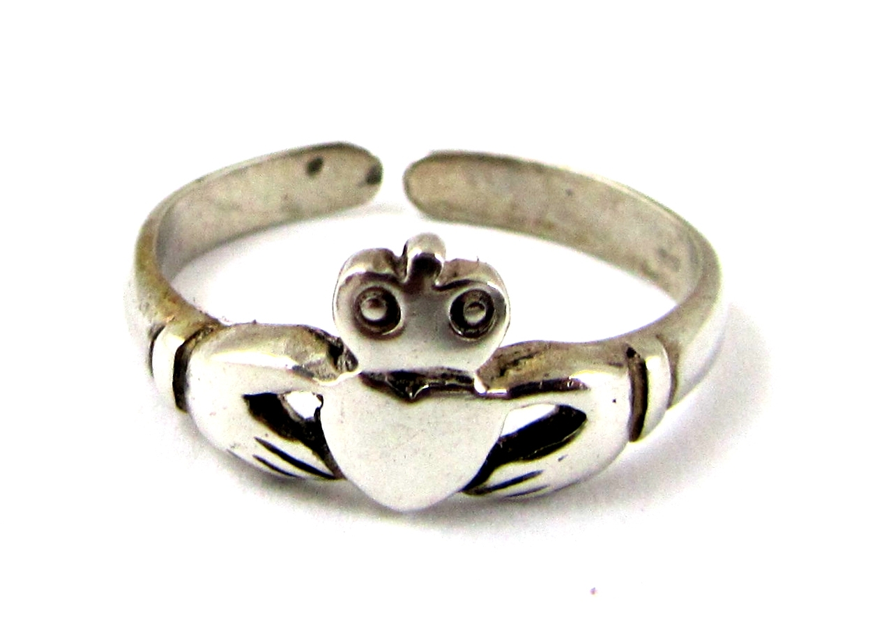 Silver Claddagh Toe Ring (Product S986) | K Bassam Jewellers In Current Claddagh Toe Rings (View 12 of 15)