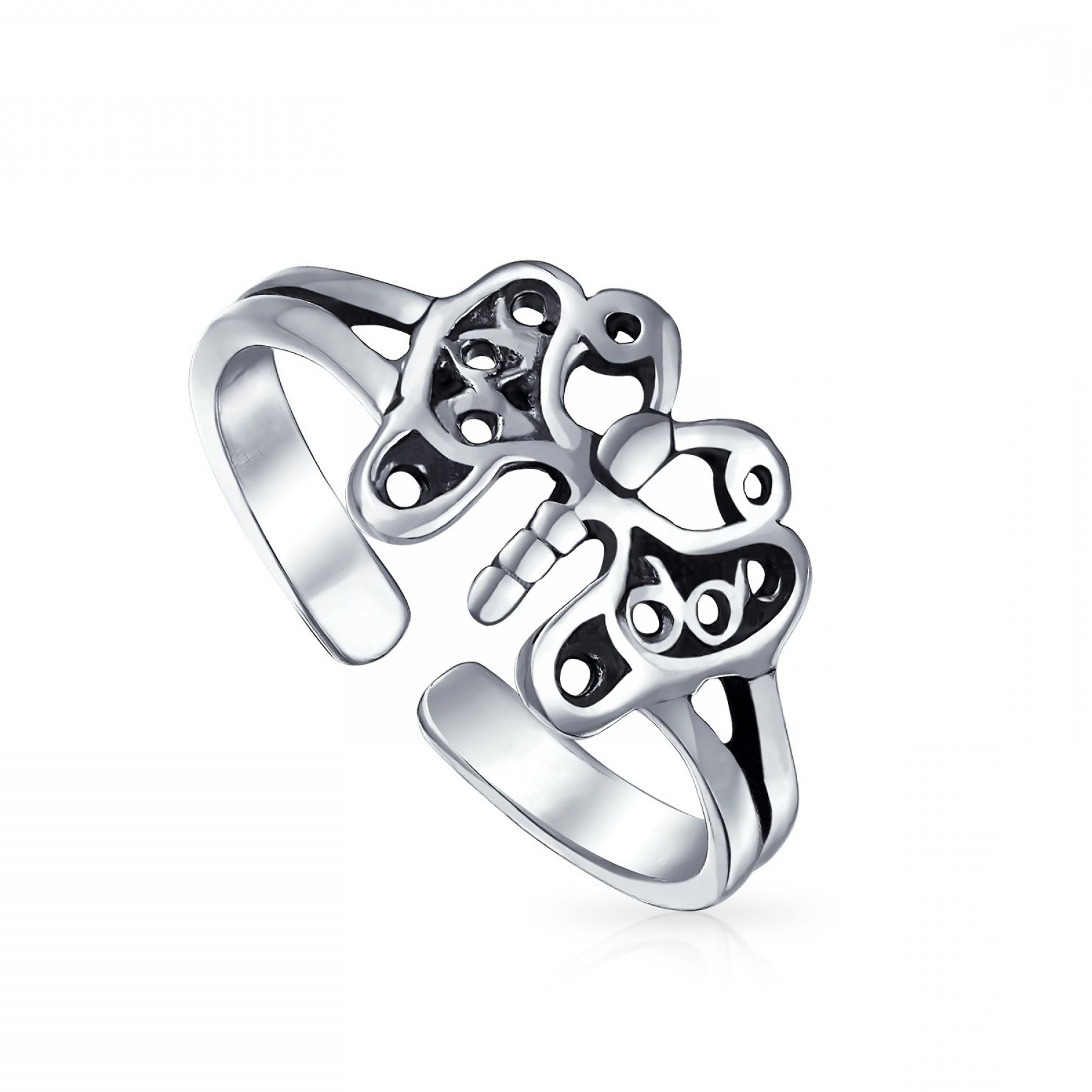 Silver Fancy Filigree Rings | Ksvhs Jewellery Pertaining To Recent Butterfly Toe Rings (View 15 of 15)