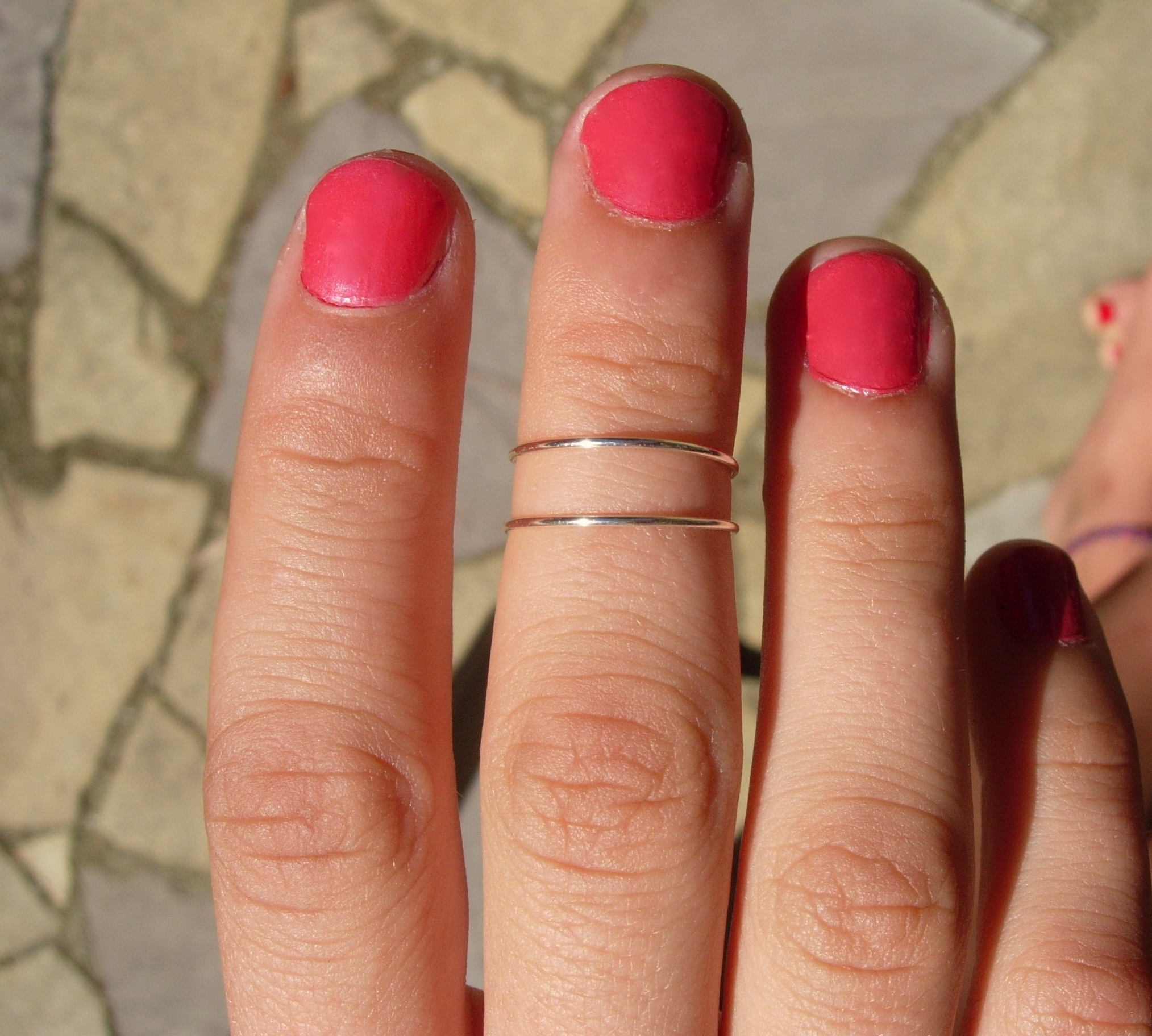 Silver Ring Wear It 6 Different Ways, Pinky Ring, Mid Finger Or For Best And Newest Stackable Toe Rings (View 9 of 15)