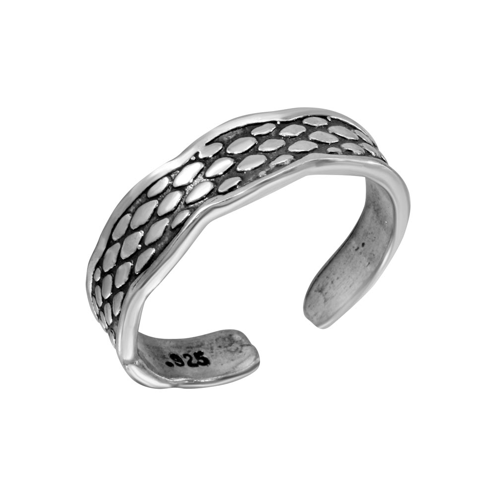 Silver Snake Scale Design Toe Ring – Tr278 A Intended For Most Current Snake Toe Rings (View 11 of 15)