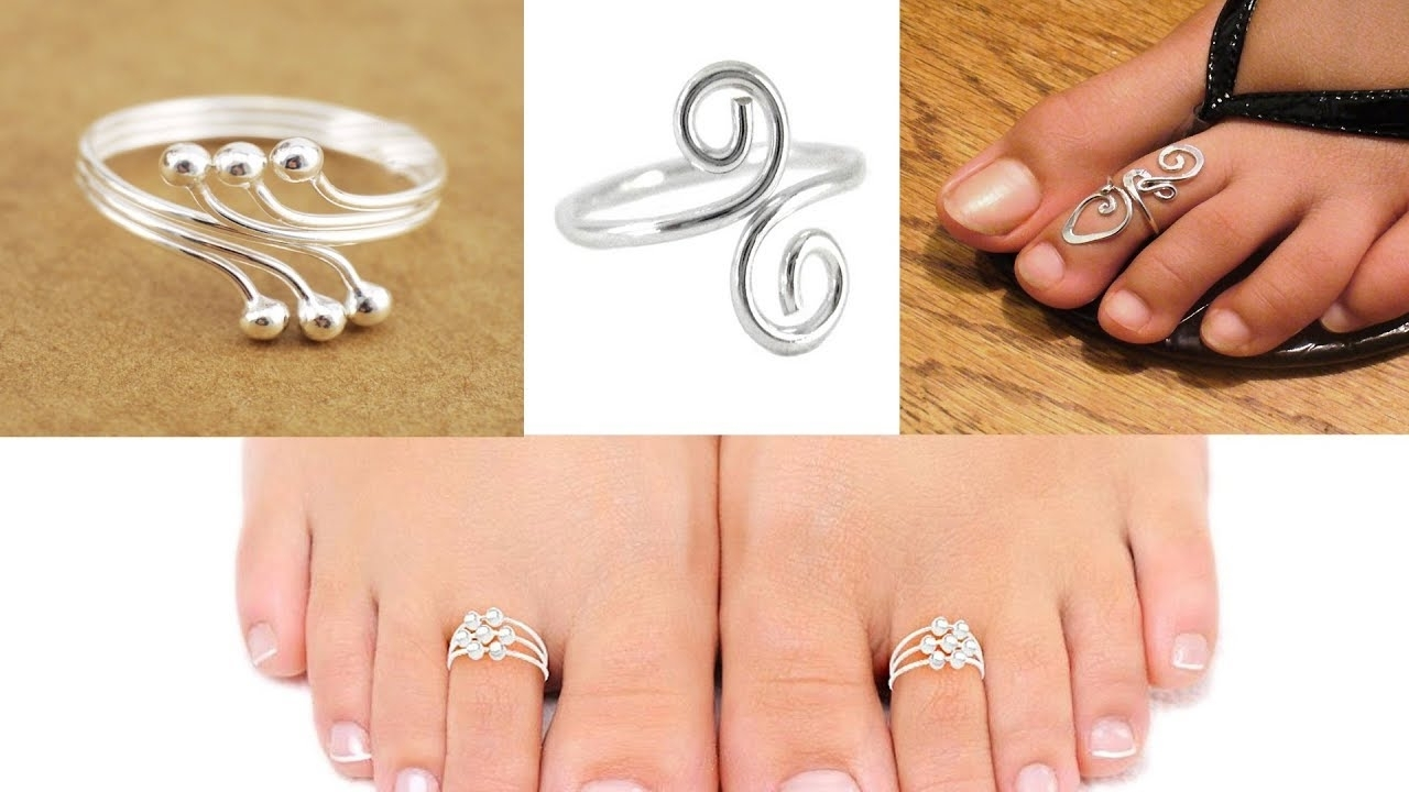 Silver Toe Rings Designs – Youtube Intended For Most Recent Jewellery Toe Rings (View 15 of 15)