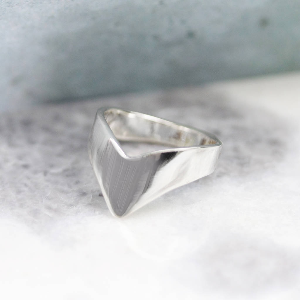 Simple Sterling Silver Chevron Ringregalrose With Newest Silver Chevron Rings (Gallery 5 of 15)