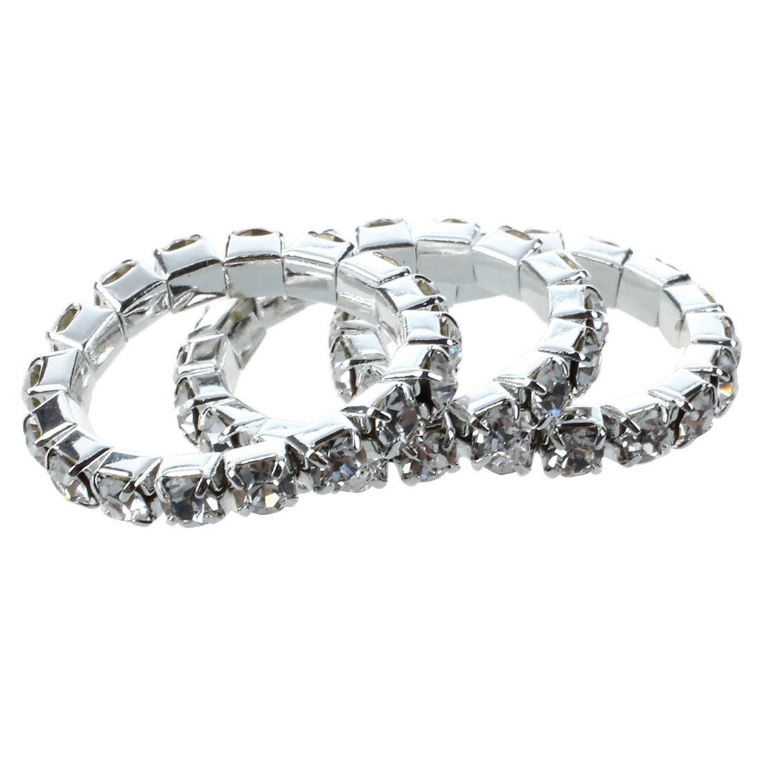 Single Row Crystal Clear Rhinestone Silver Stretch Toe Ring With Regard To Most Recent Elastic Toe Rings (View 13 of 15)