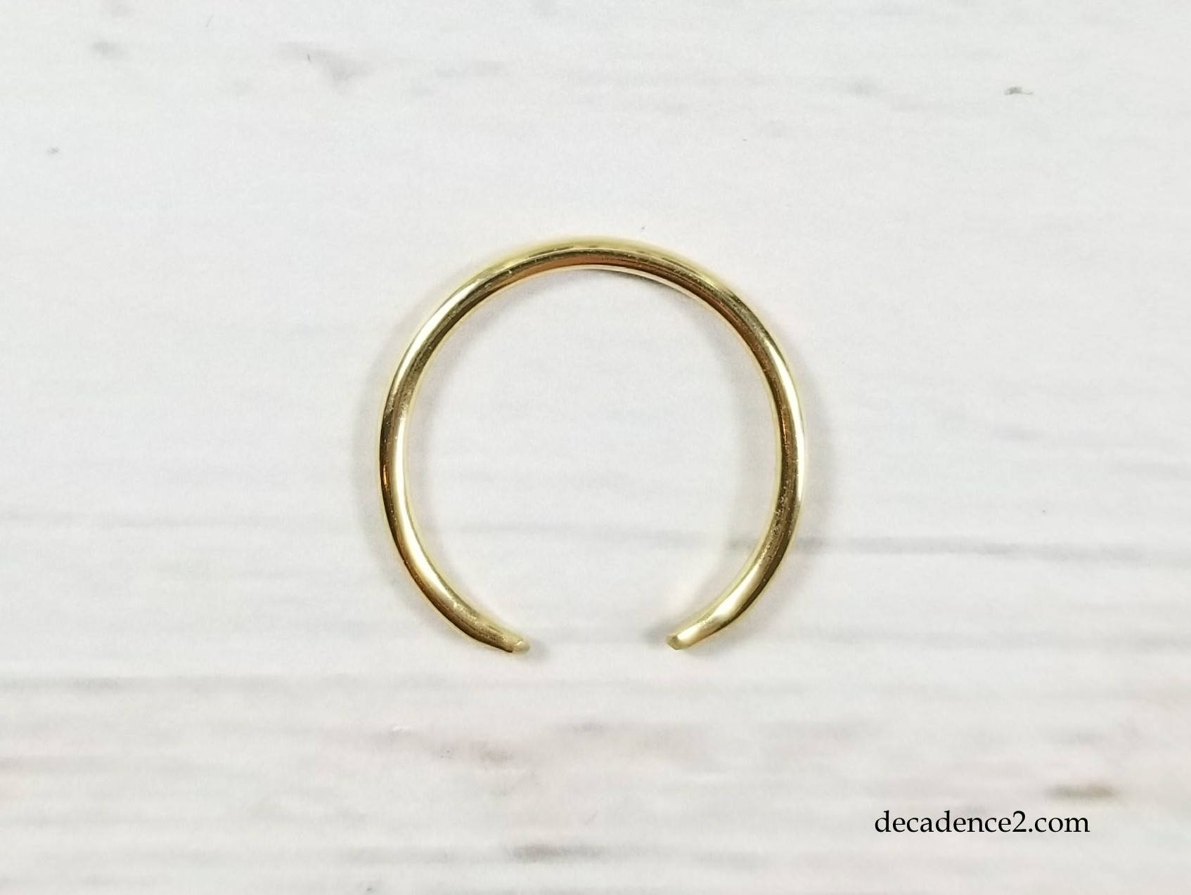 Solid 14K Yellow Gold Round Wire Toe Ring Regarding Most Recently Released Full Circle Toe Rings (View 13 of 15)