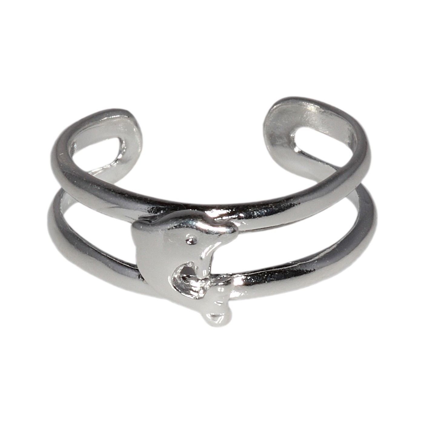 Sterling Silver .925 Dolphin Toe Ring Adjustable Size | Made In Usa In Recent Dolphin Toe Rings (Gallery 12 of 15)