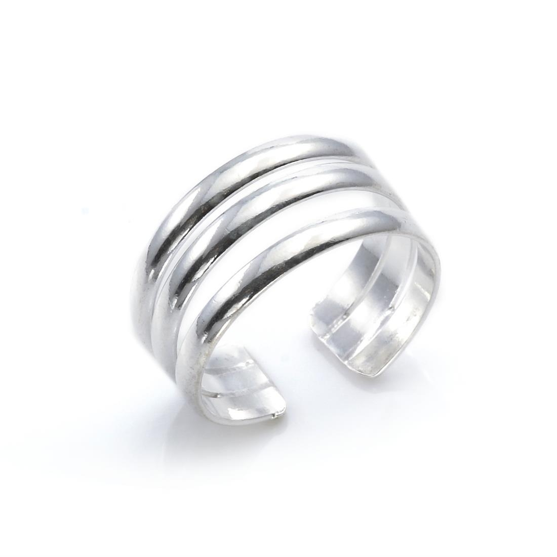 Sterling Silver 925 Triple Band Toe Ring – 81stgeneration In Most Up To Date Adjustable Toe Rings (View 5 of 25)