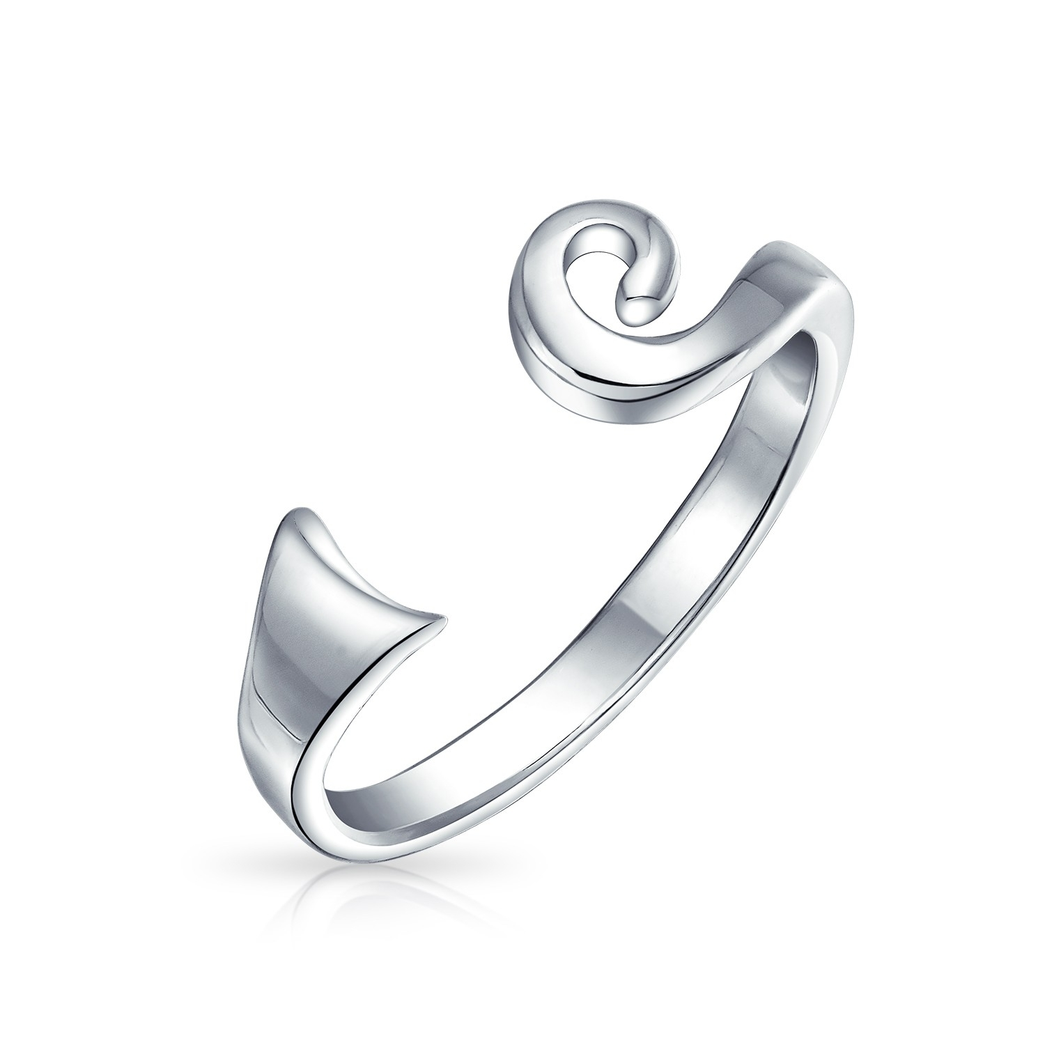 Sterling Silver Celtic Spiral Midi Ring Toe Rings Adjustable Regarding Latest Celtic Toe Rings (View 11 of 15)