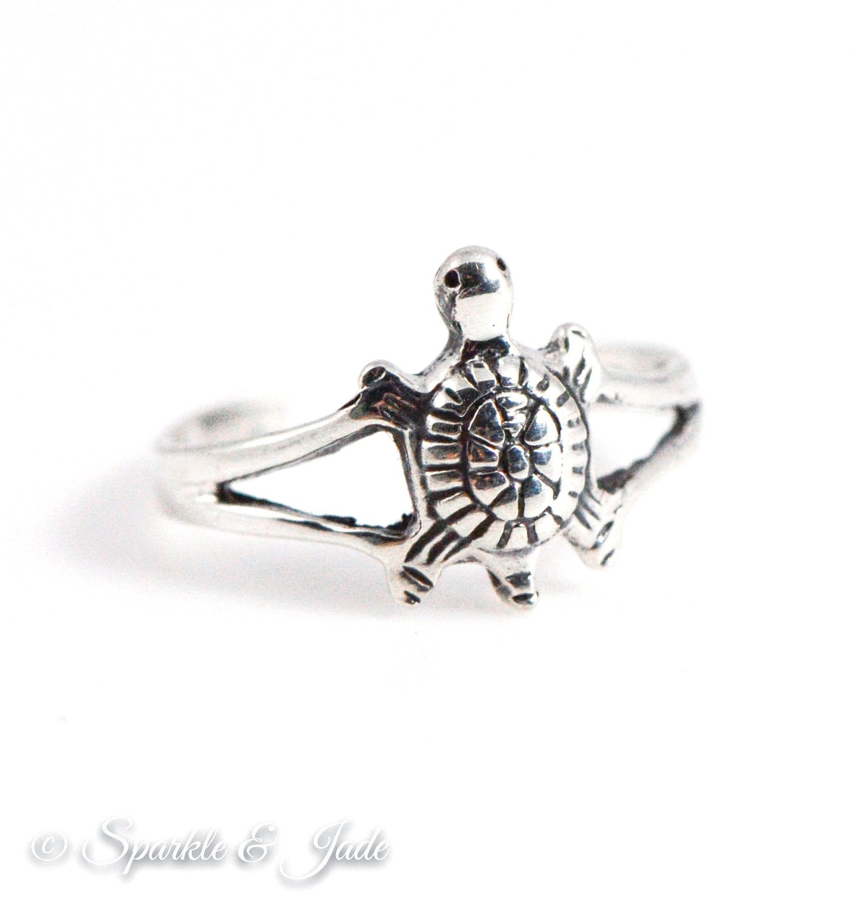 Sterling Silver Oxidized Turtle Toe Ring | Toe Rings, Turtle And Pertaining To Most Recent Turtle Toe Rings (View 3 of 15)