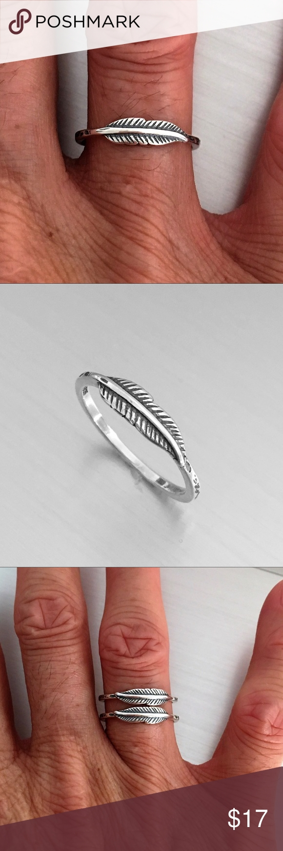 Sterling Silver Tiny Feather Ring | Feather Ring, Toe Rings And Pertaining To Most Up To Date Feather Toe Rings (Gallery 5 of 15)