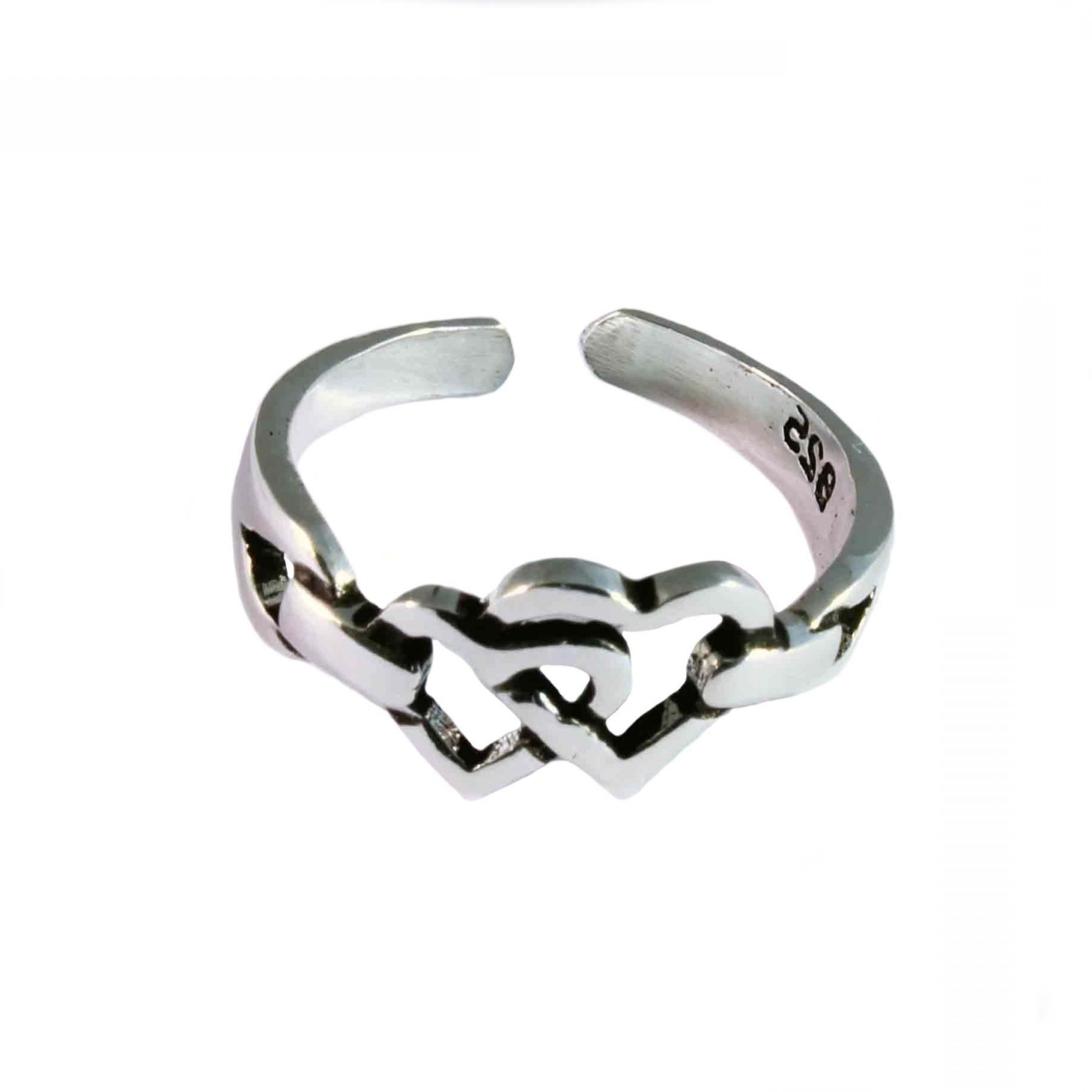 Sterling Silver Toe Ring Entwined Hearts Design P | Ksvhs Jewellery Throughout Recent Sterling Silver Fitted Toe Rings (View 10 of 15)