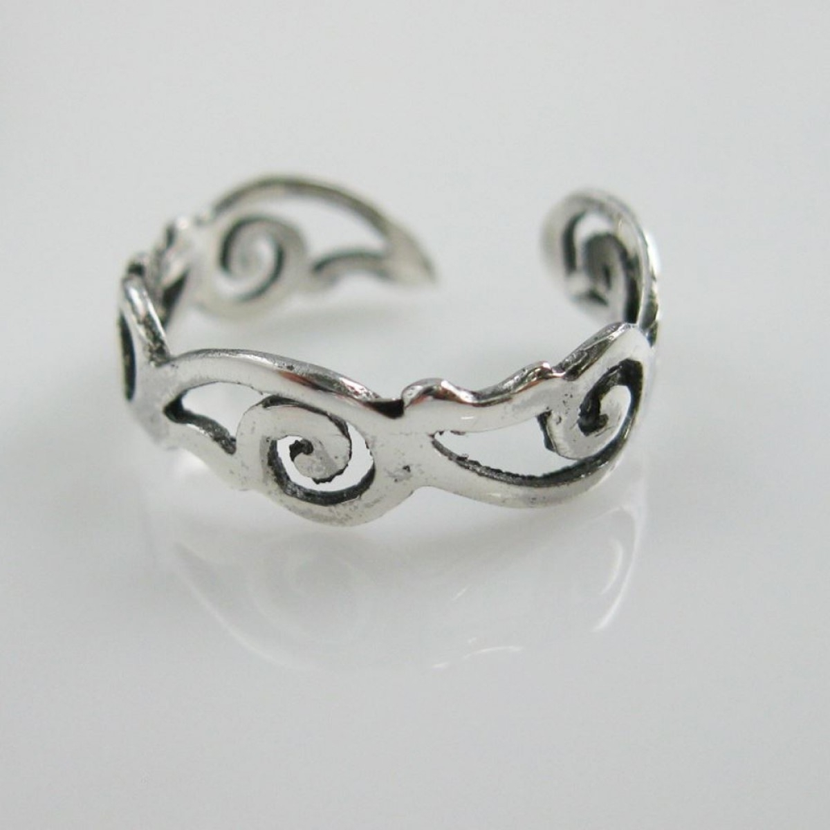 Sterling Silver Toe Ring Simple Paisley Ring Adjustable Paisley Within Newest Sterling Silver Fitted Toe Rings (View 11 of 15)