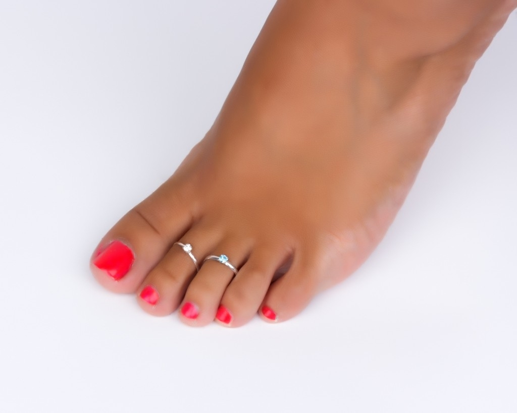 Sterling Silver Toe Rings Adjustable Midi Ring Inside Most Recent Toe Rings (Gallery 2 of 15)