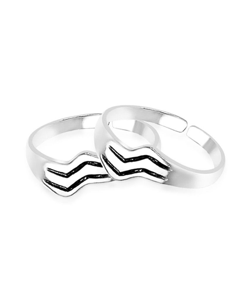 Taraash Engraved Pattern Toe Rings: Buy Taraash Engraved Pattern Intended For 2017 Engraved Toe Rings (Gallery 12 of 15)