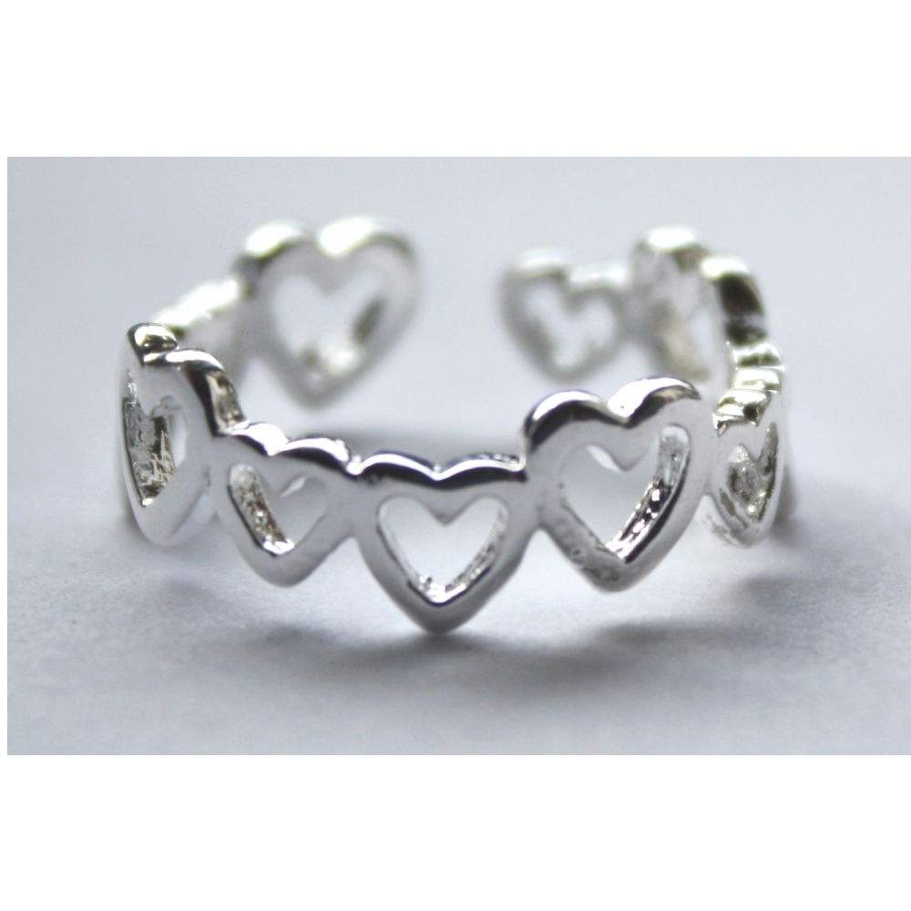 Thats Charming | Silver Jewellery | Silver Toe Rings Pertaining To Recent Heart Toe Rings (Gallery 2 of 15)