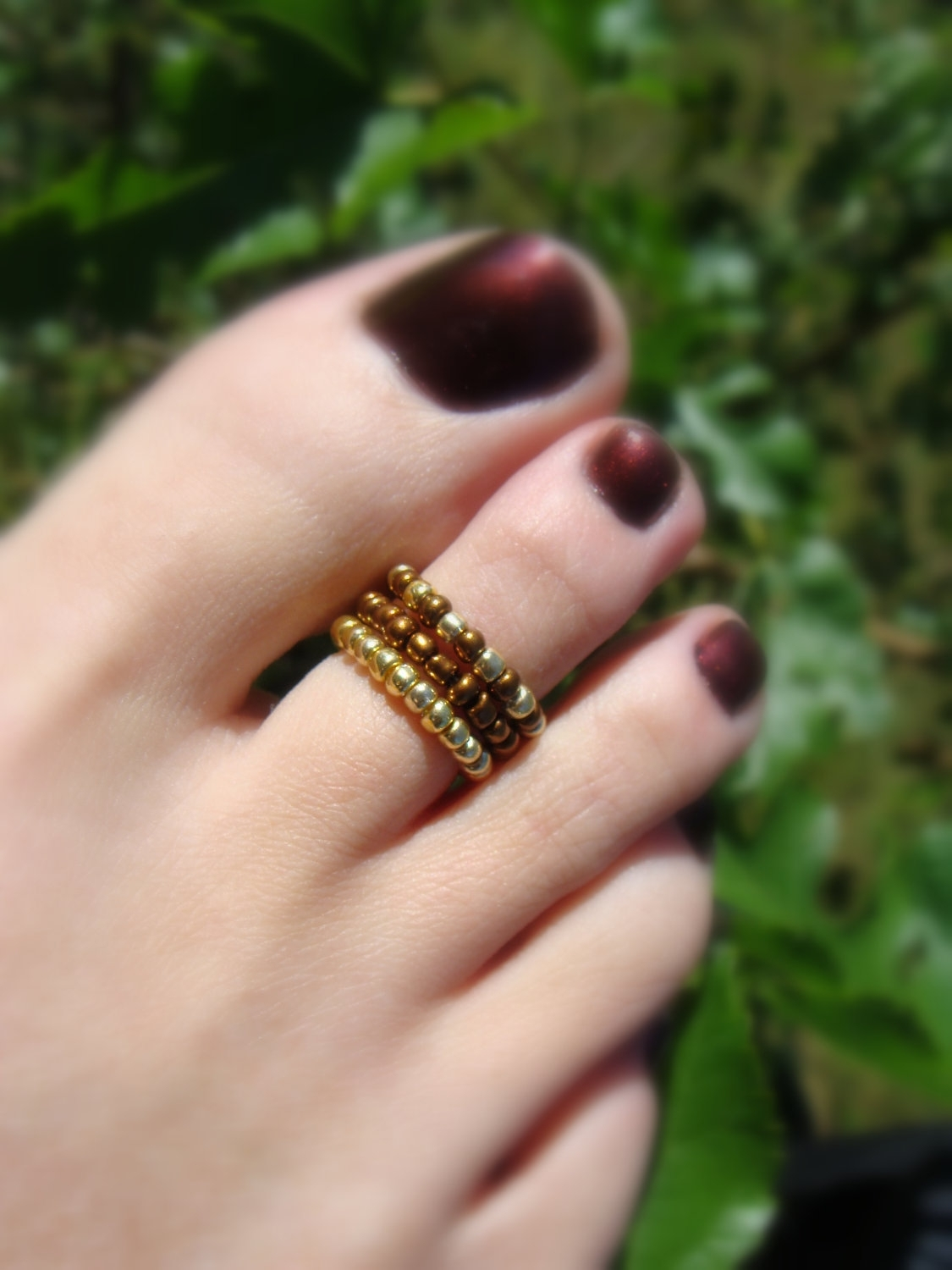 Toe Ring, Cleo Seed Bead Toe Ring. $2.75, Via Etsy (View 14 of 15)