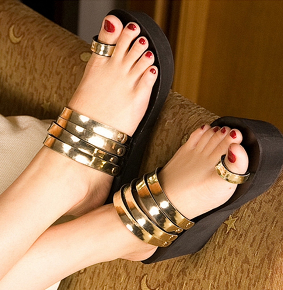 Toe Ring Sandals 4 | Sandals & Pedicure For Most Current Toe Rings In Gold (View 15 of 15)