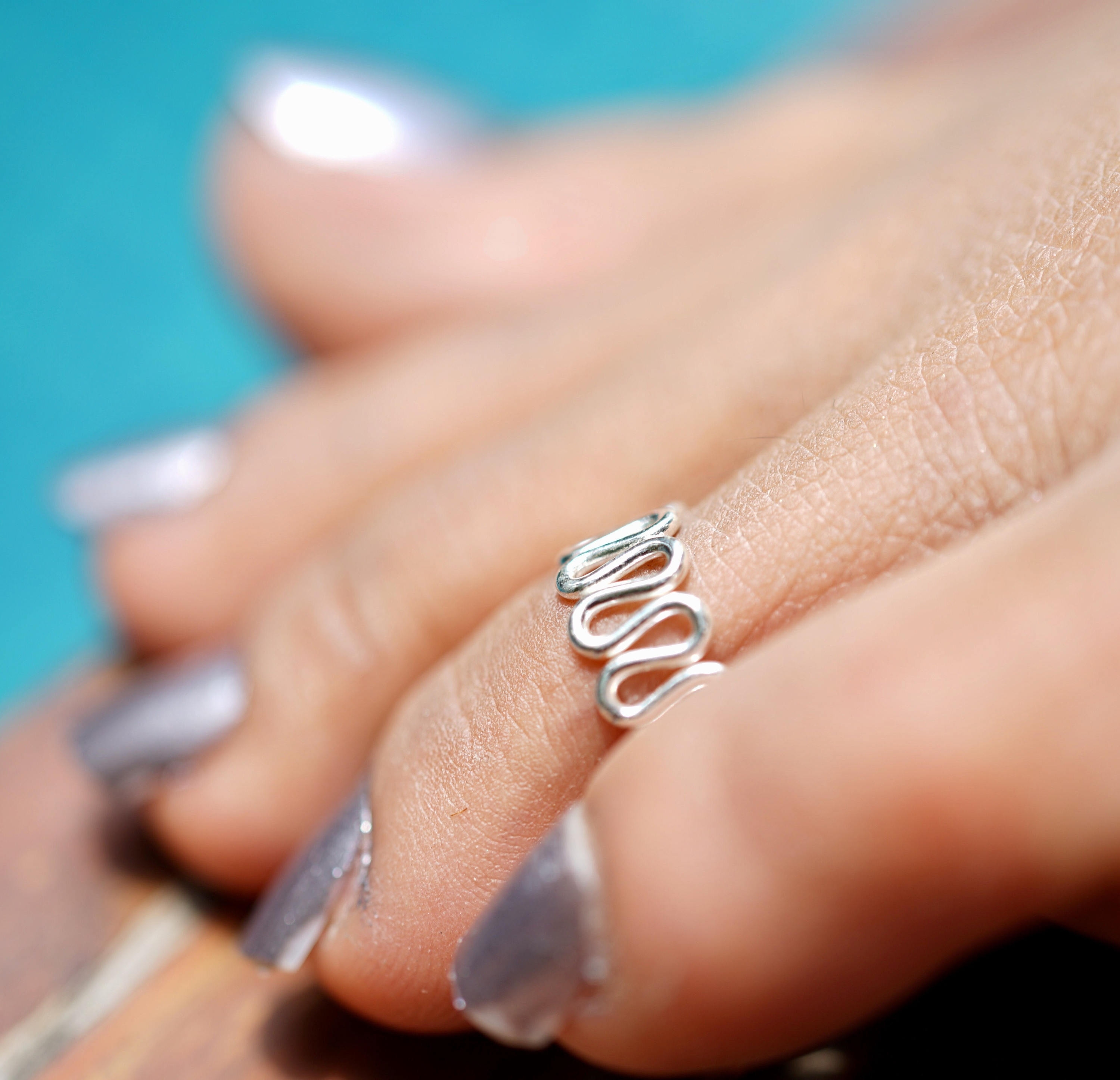 Toe Ring, Silver Toe Ring, Minimalist Silver Jewelry, Hippie Style Intended For Latest Adjustable Toe Rings (Gallery 20 of 25)
