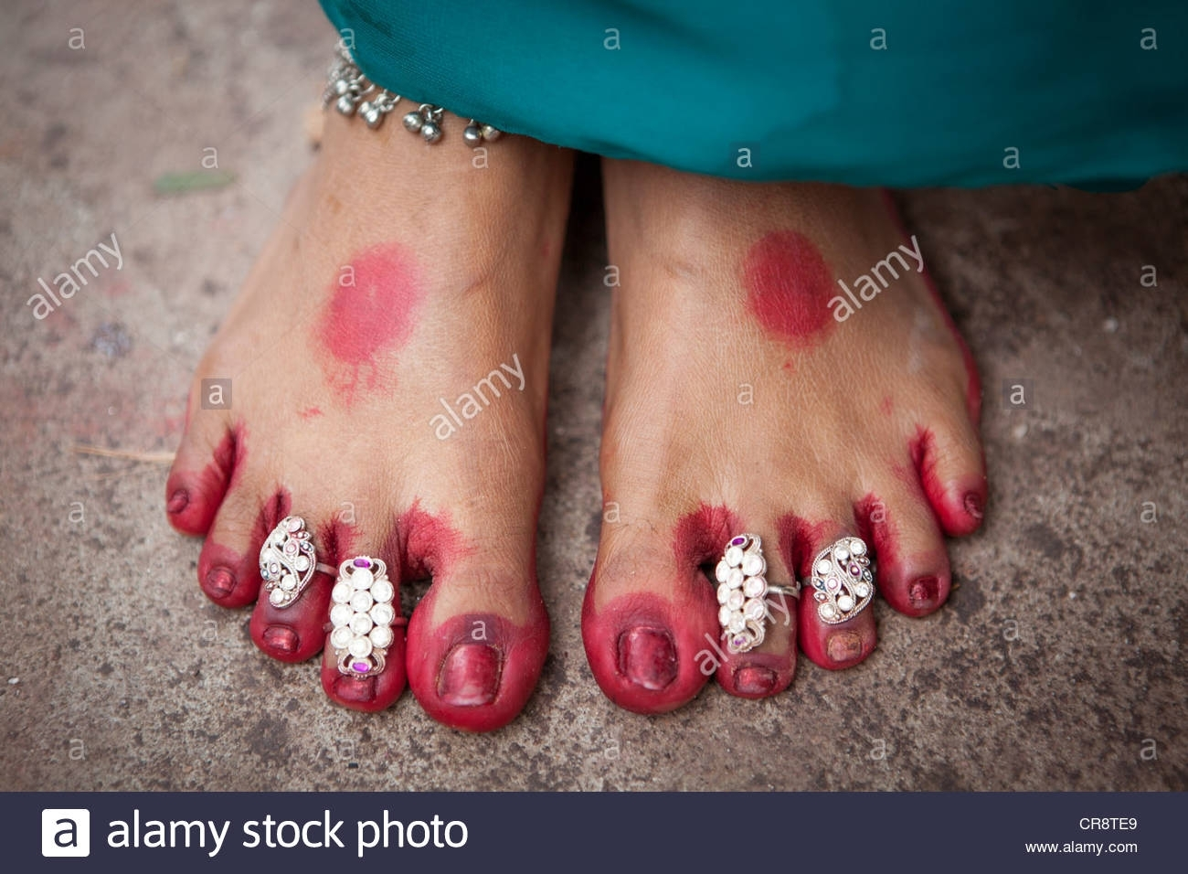 Toe Ring Stock Photos & Toe Ring Stock Images – Alamy For Current Indian Toe Rings (View 4 of 15)