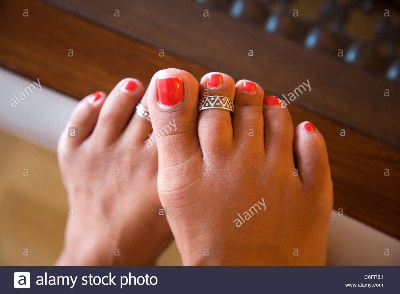 Toe Ring Stock Photos & Toe Ring Stock Images – Alamy For Most Recent Big Toe Rings (View 8 of 15)