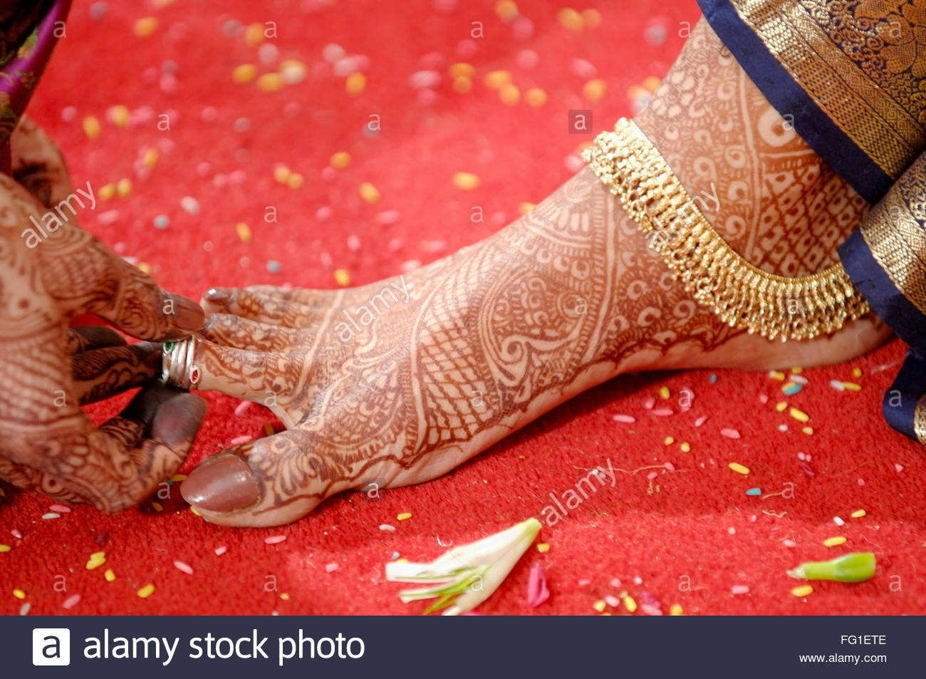 Toe Ring Stock Photos & Toe Ring Stock Images – Alamy Inside Most Current Wedding Toe Rings (View 10 of 15)