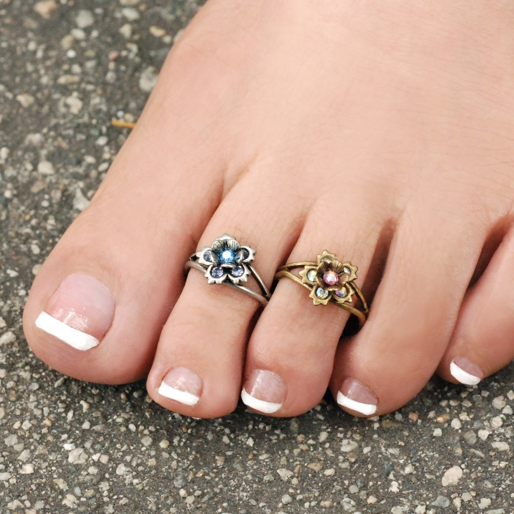 Toenail Rings! – Aboutwomanbeauty For Latest Flower Toe Rings (View 14 of 15)