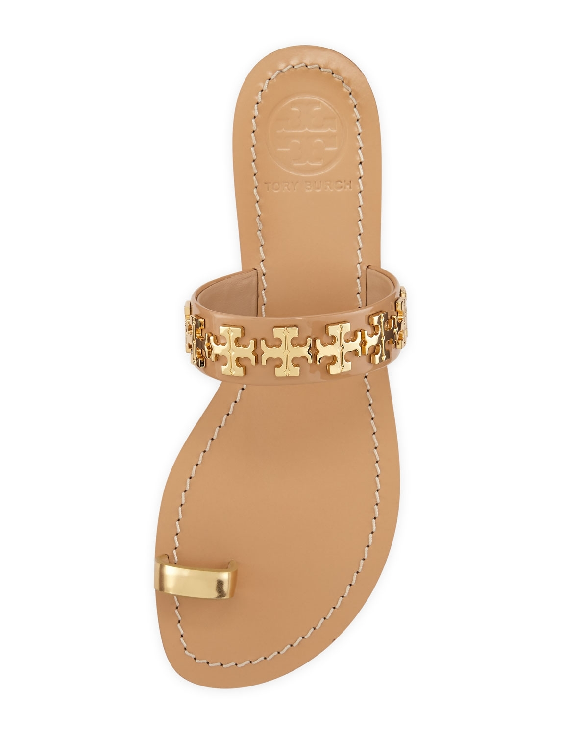 Tory Burch Val Patent Toe Ring Sandal, Camellia Pink/gold | Omg For Most Popular Macy's Toe Rings (View 14 of 15)