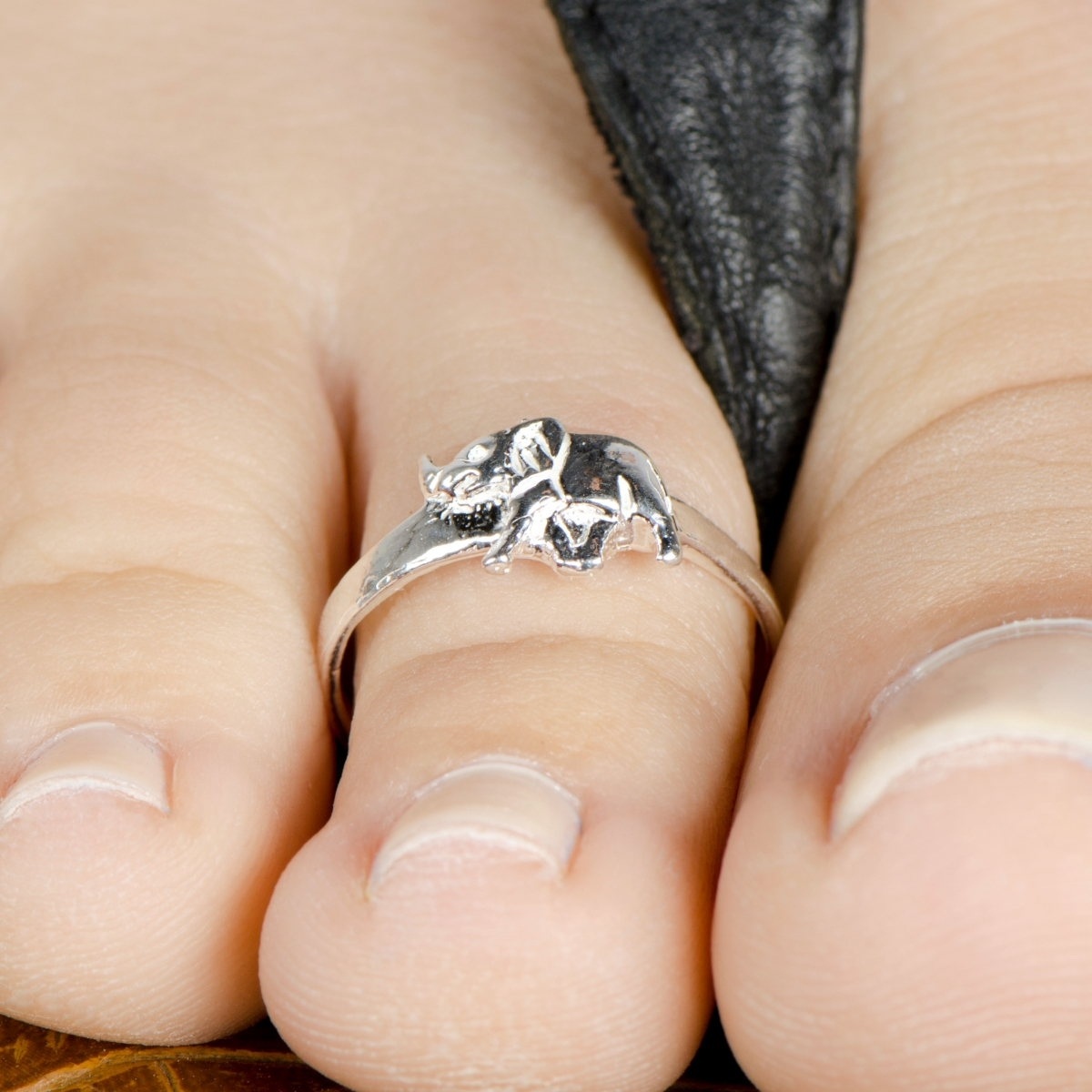 Tr – Elephant – Grateful Days Pertaining To Best And Newest Toe Engagement Rings (View 15 of 15)