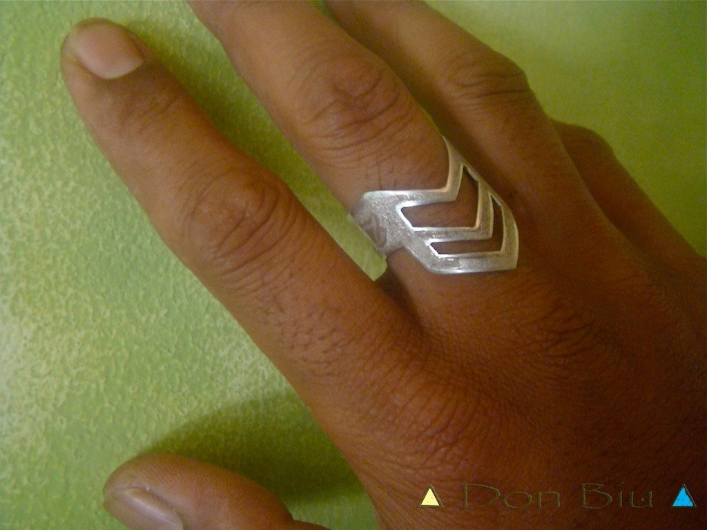 Triangle Ring, Mens Silver Ring, Mens Personalized Ring, Free Within 2017 Men's Chevron Rings (Gallery 6 of 15)