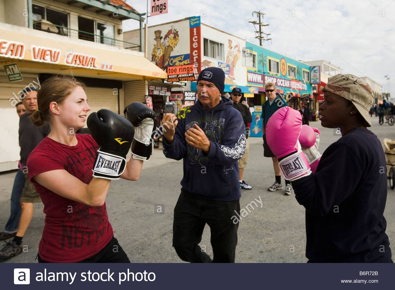 Two Woman Learning To Box Venice Beach Los Angeles County In Most Current Venice Beach Toe Rings (View 11 of 15)