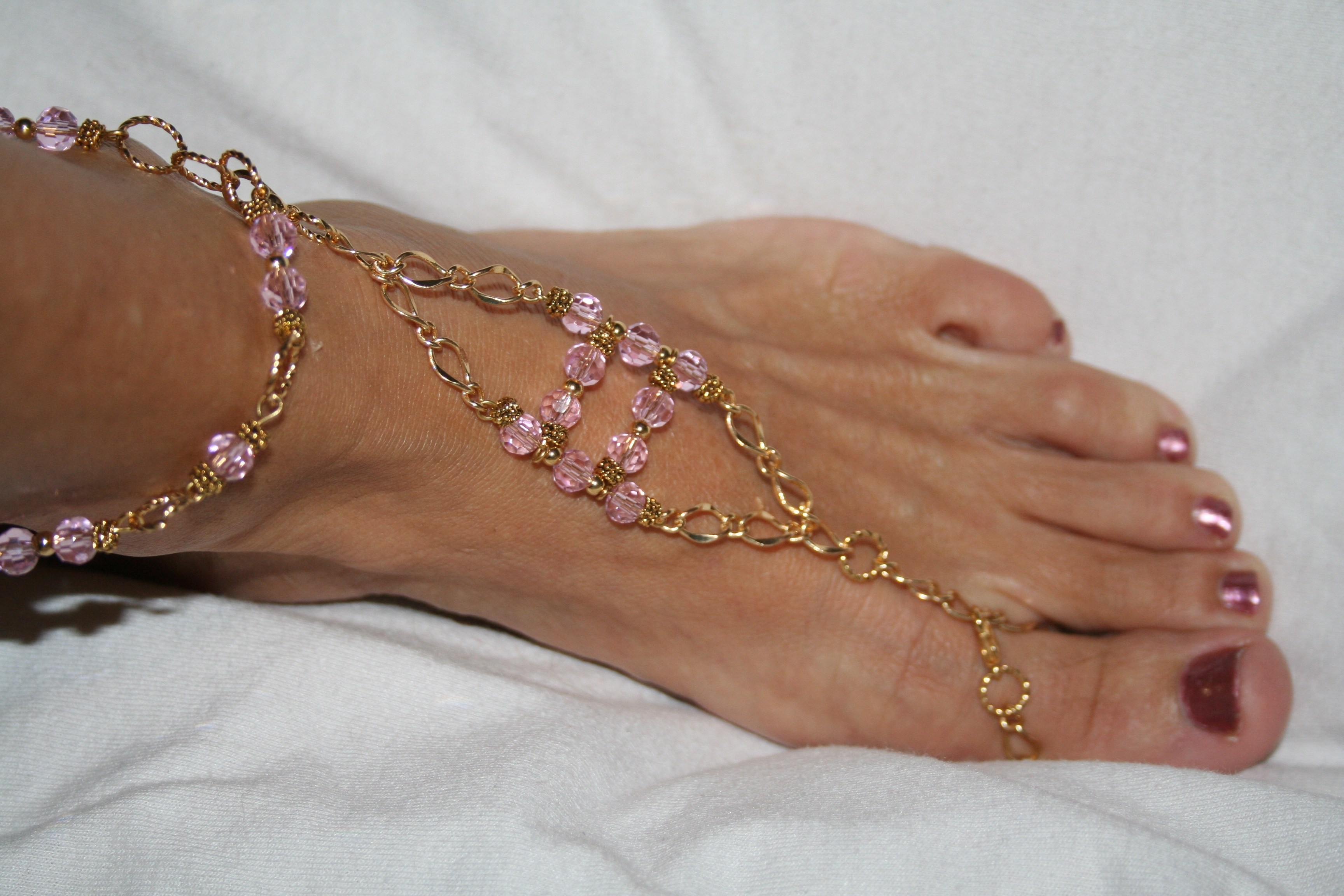 toe ring body within ankle recent bracelet and jewelry flops bracelets of rings florida pink anklet best most matching