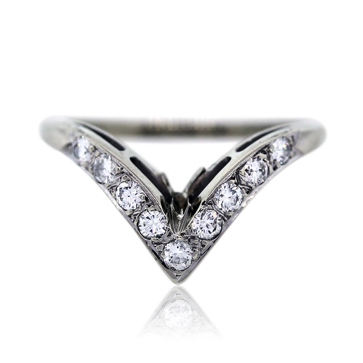 V Shaped Diamond Ring | Wedding, Promise, Diamond, Engagement Inside Best And Newest Chevron Shaped Rings (Gallery 8 of 15)