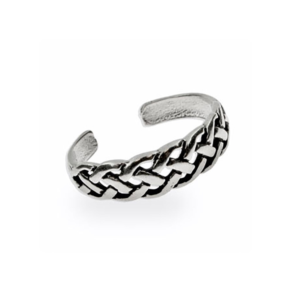 Weave Sterling Silver Toe Ring | Eve's Addiction® In Most Popular Celtic Toe Rings (View 15 of 15)