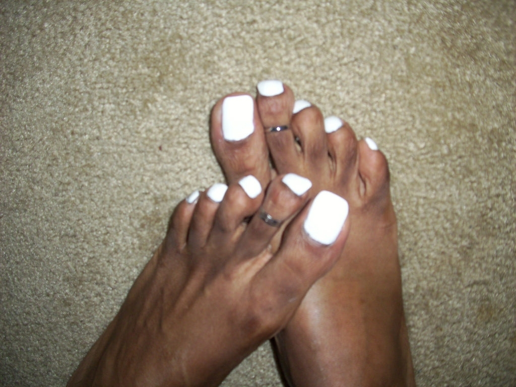 White Nail Polish And Cute Toe Rings | China Glaze – White O… | Flickr Within Most Up To Date Pretty Toe Rings (View 11 of 15)