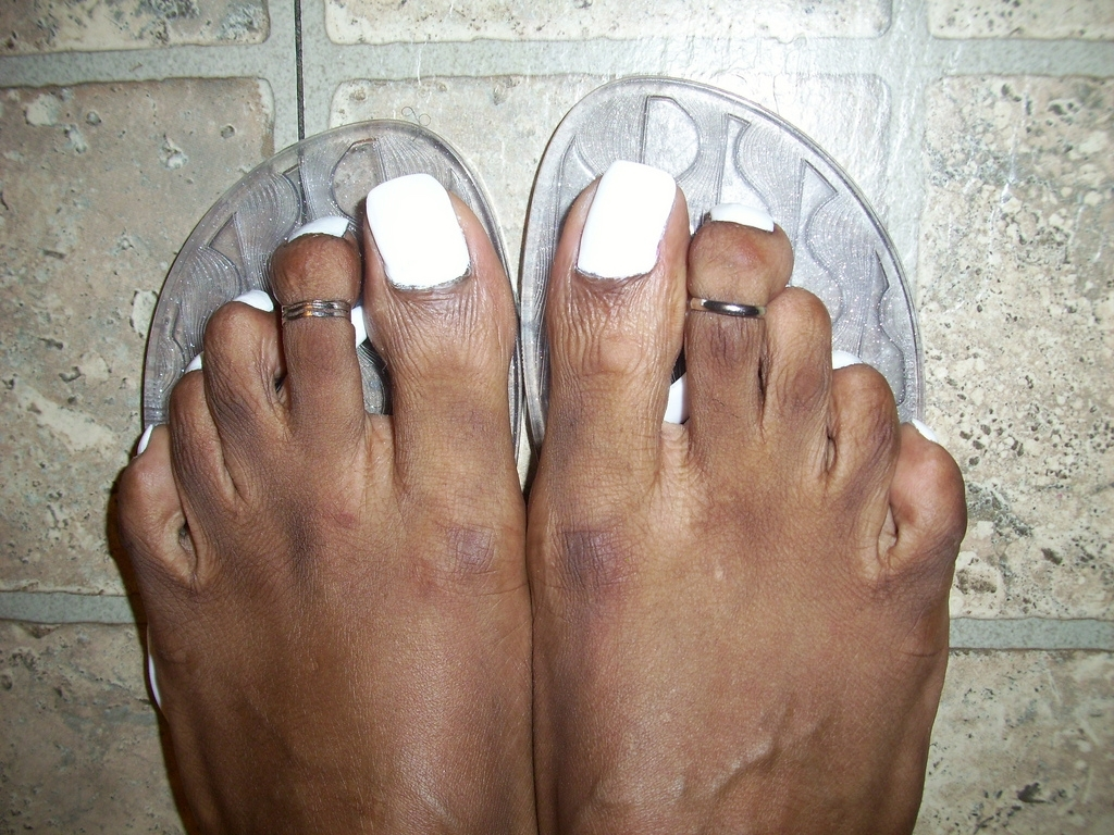 White Nail Polish And Cute Toe Rings | Hyellow | Flickr With Latest Cute Toe Rings (View 15 of 15)