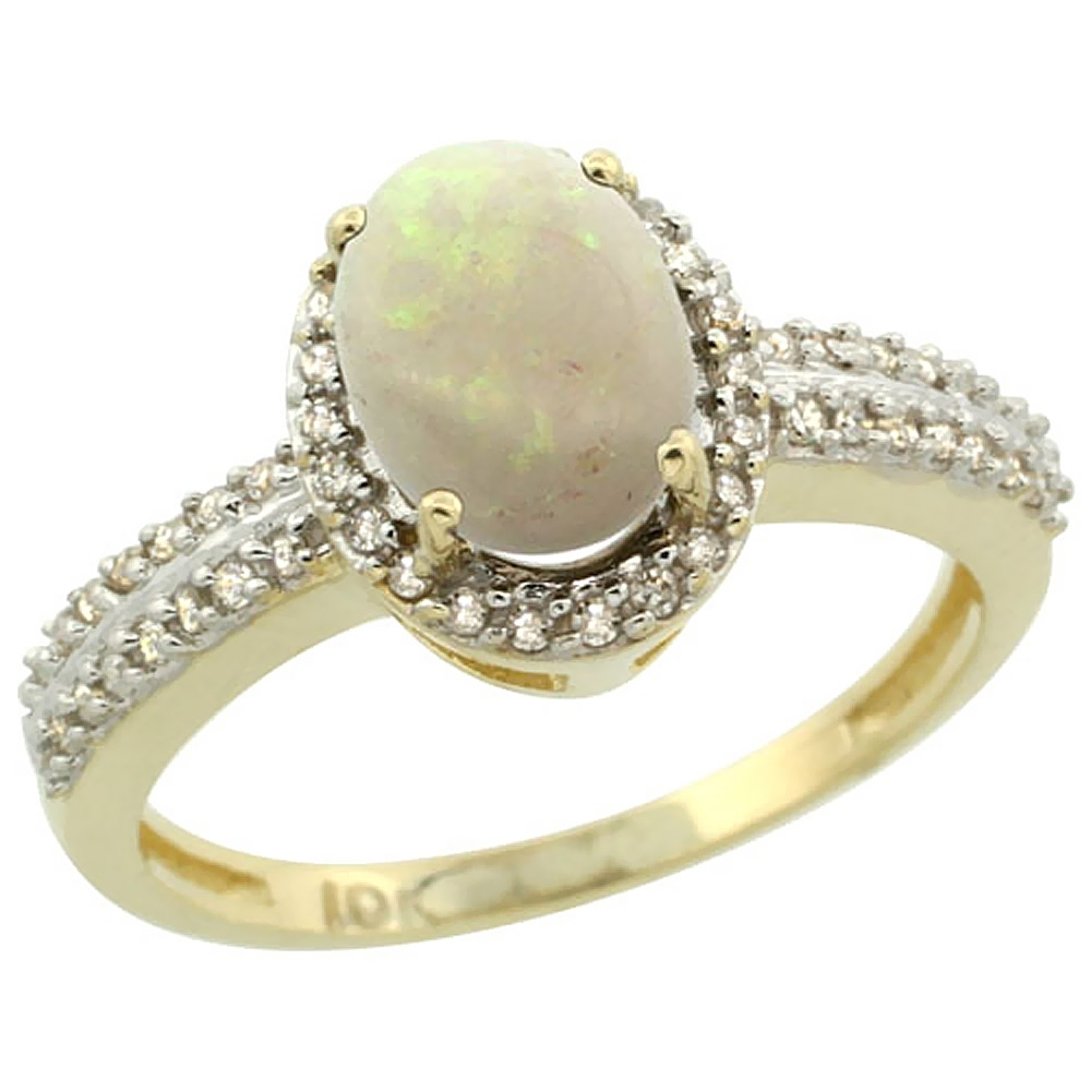 White Opal With Regard To Most Recently Released Yellow 10K Toe Rings (Gallery 7 of 15)