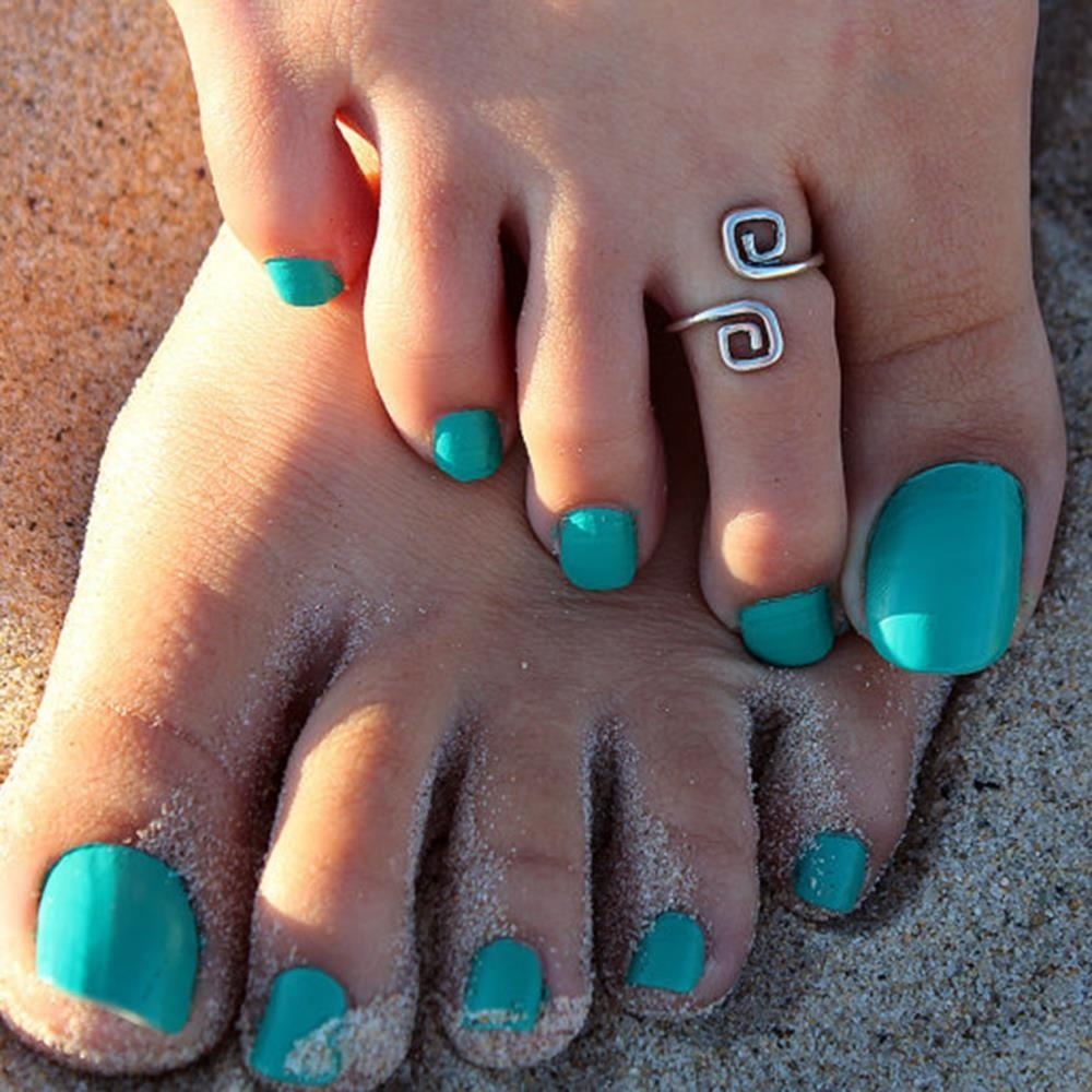 Women Lady Unique Retro Silver Plated Nice Toe Ring Foot Beach Pertaining To Recent Pretty Toe Rings (View 10 of 15)