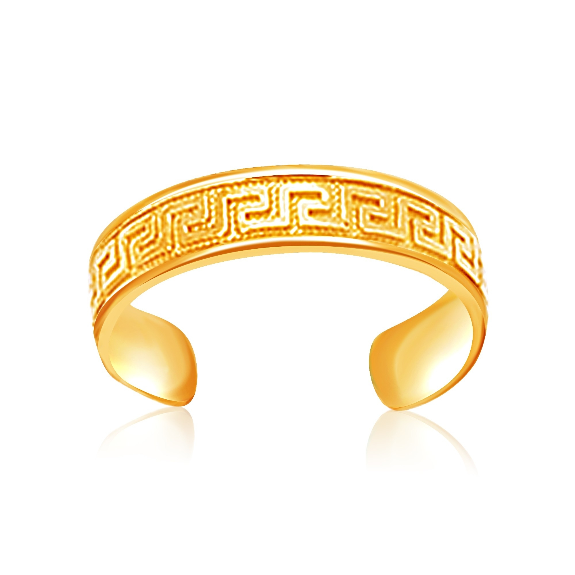 Yellow Gold Labyrinth Motif Toe Ring For Most Up To Date 14k Toe Rings (View 11 of 25)