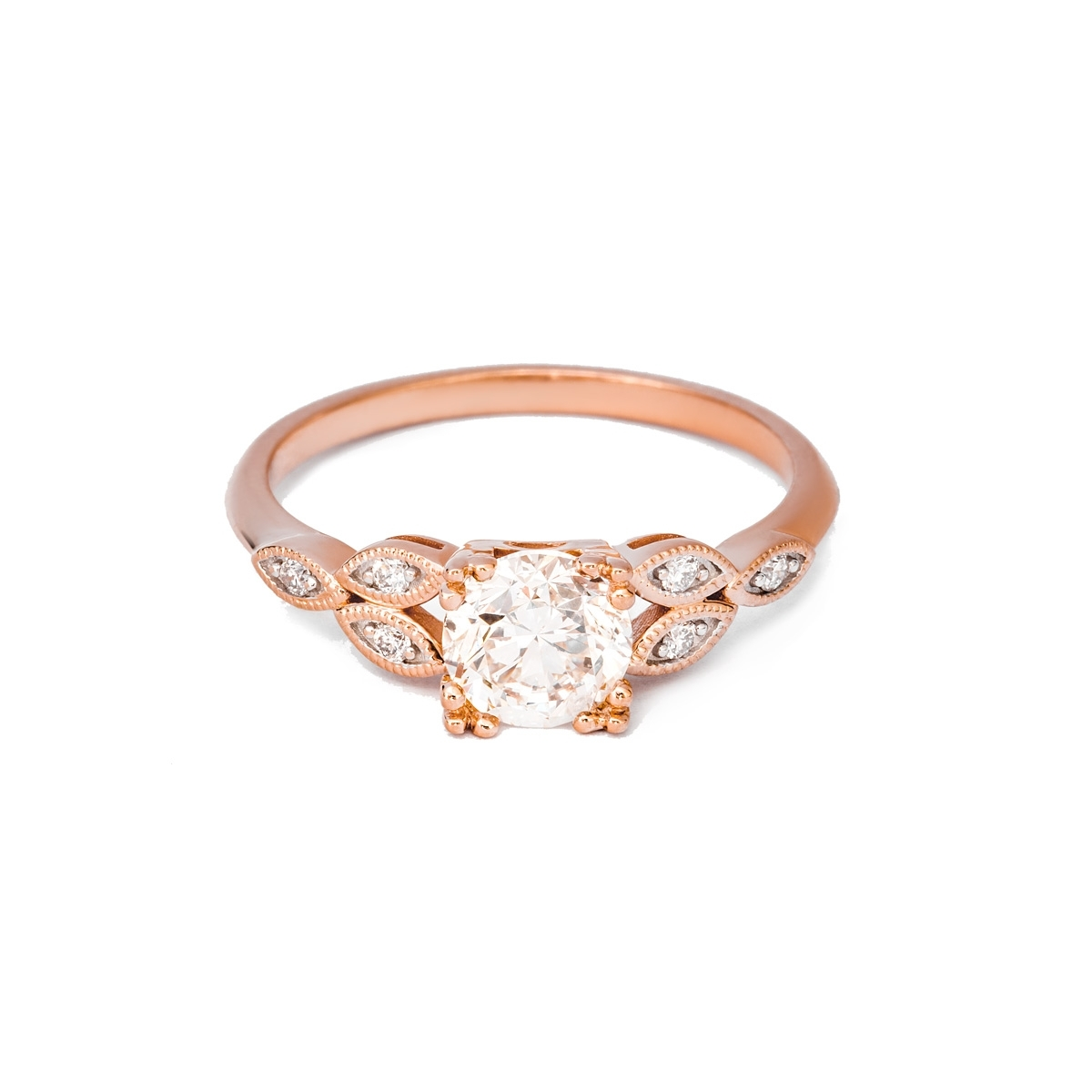 1.00Ct Vintage Style Engagement Ring | Dc Jewellery London In Current Vintage Style Rose Gold Engagement Rings (Gallery 10 of 15)