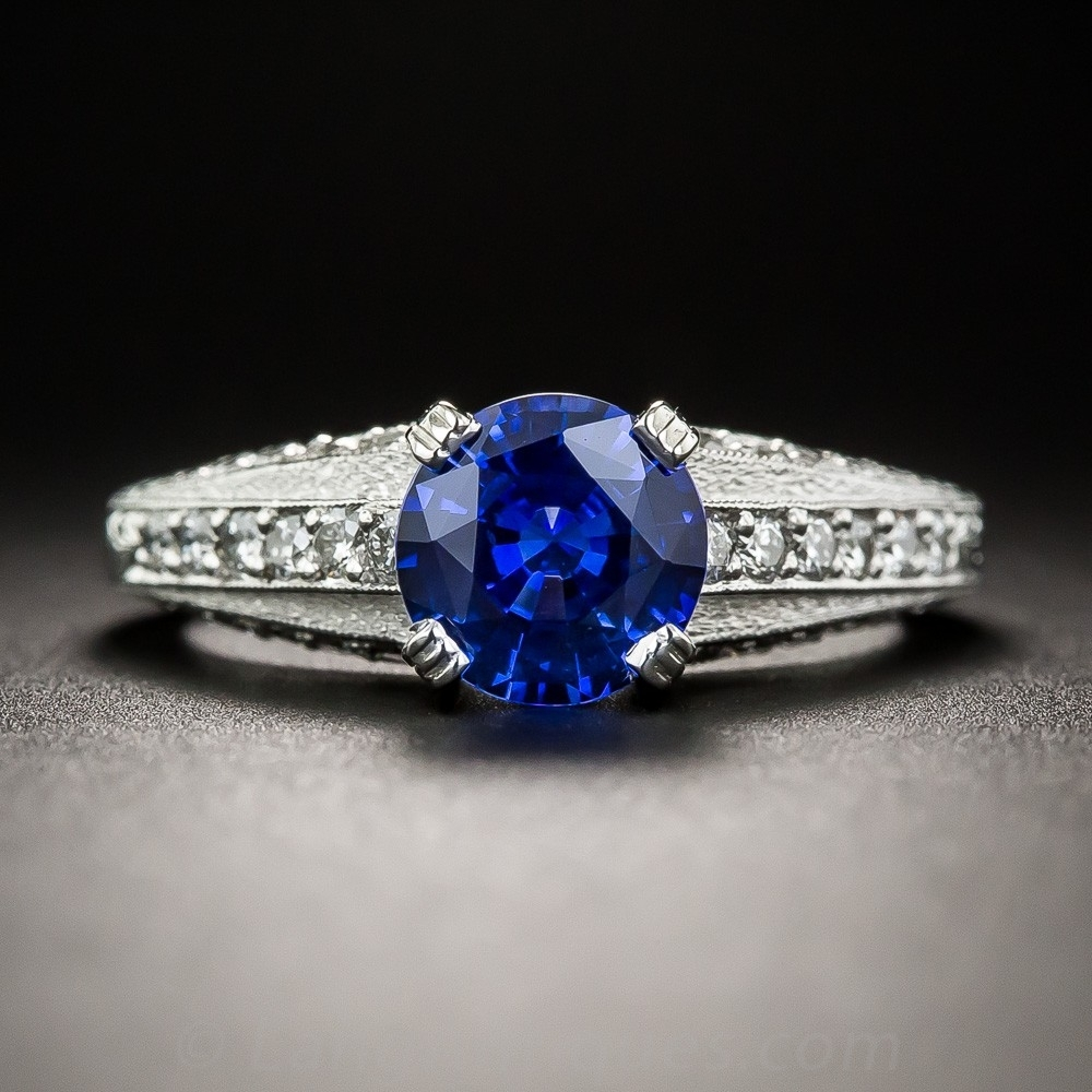 Featured Photo of Vintage Style Diamond And Sapphire Engagement Rings