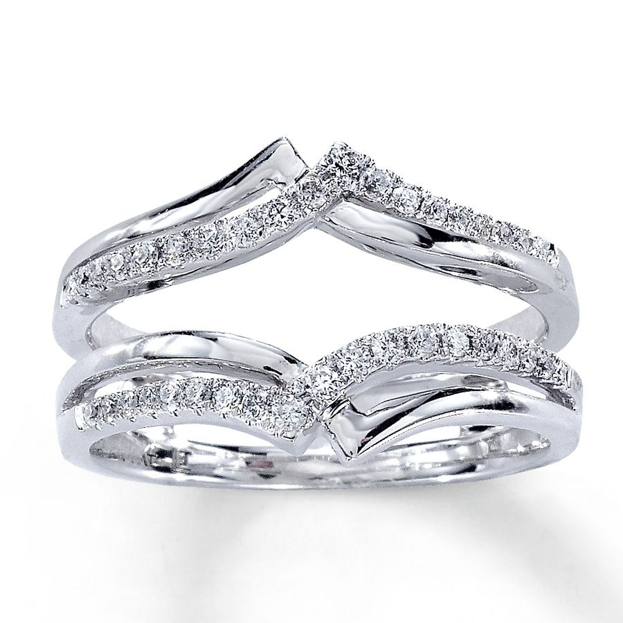 Featured Photo of Diamond Contour Solitaire Enhancers In 14K White Gold